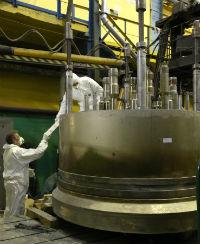 Завершен монтаж транспортного шлюза ЭБ-2 Белорусской АЭС