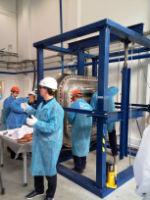 В Криогенмаше начались вакуумные испытания на стенде по отработке способов уплотнения в размерах фланца верхнего порт-плага