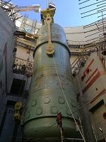 На Курской АЭС-2 установлен последний блок перекрытия кольцевых стен реакторного здания ЭБ-1