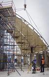 На ЭБ-2 ЛАЭС-2 начали сборку гермооблицовки верхнего яруса купола внутренней защитной оболочки здания реактора энергоблока
