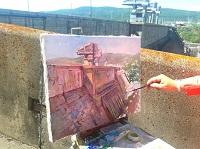 На Красноярской ГЭС открылась сессия пленэров для красноярских художников